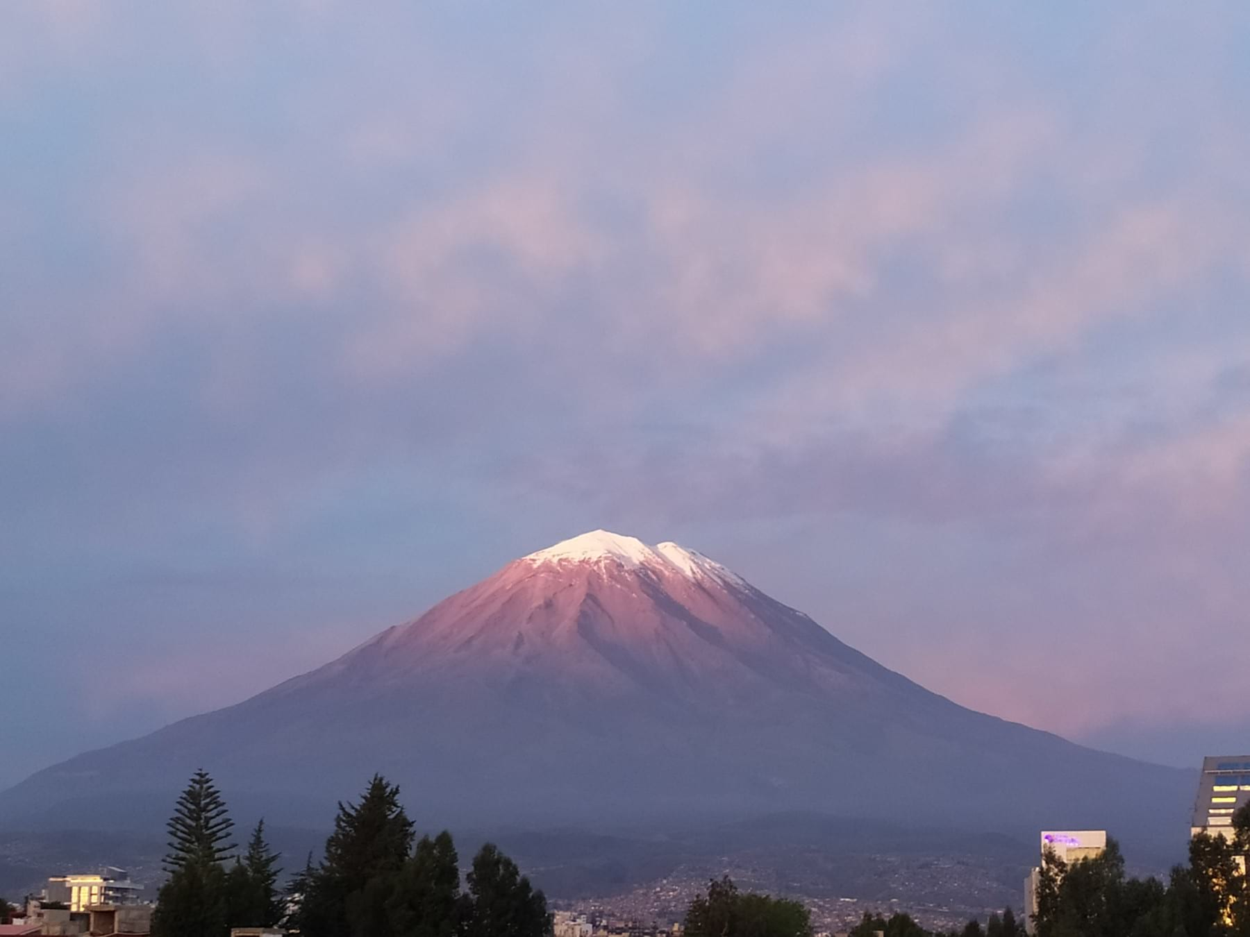The Volcano Misti in Arequipa in Peru