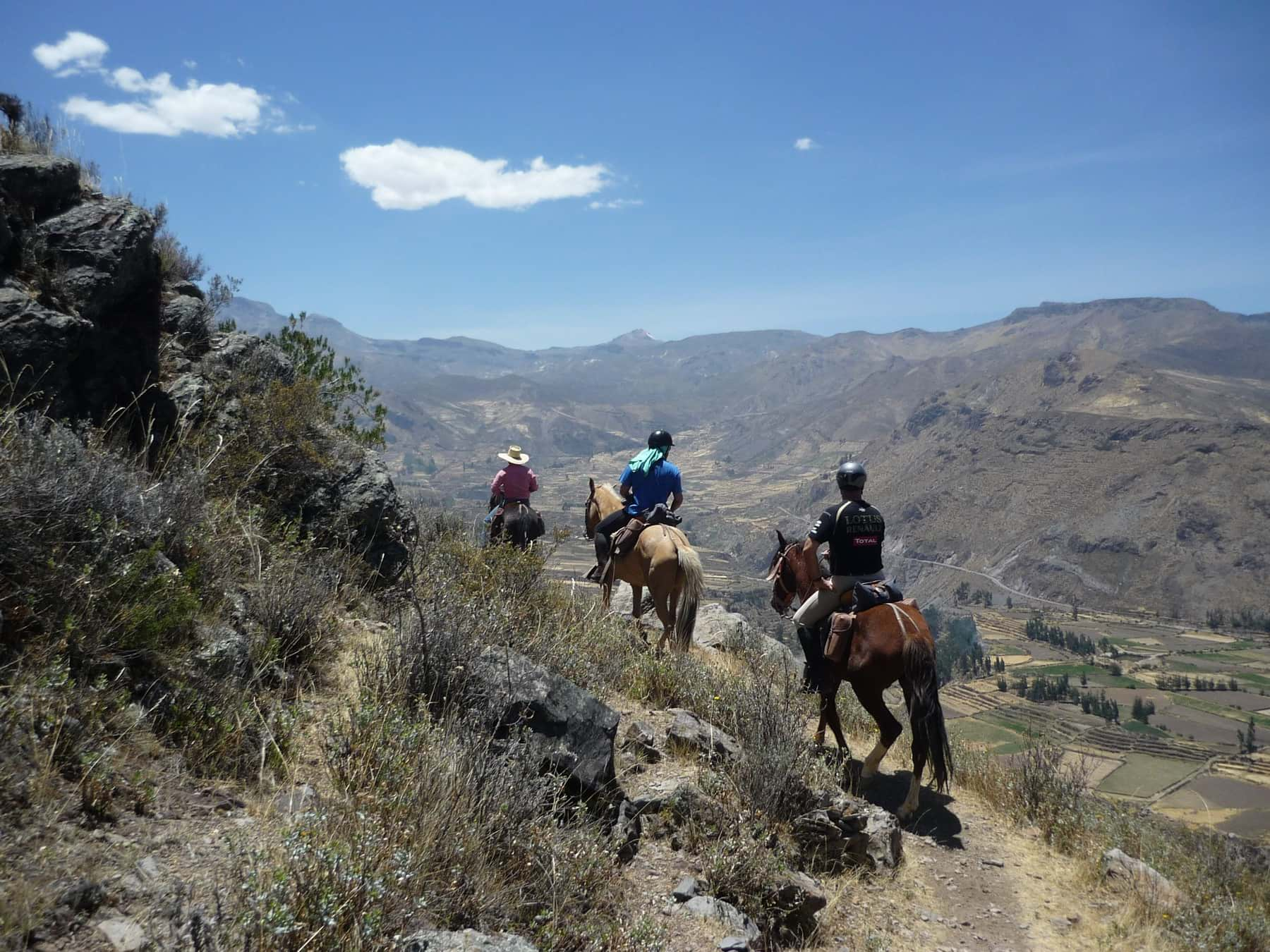 Horseback ride in the Colca Canyon - Peru