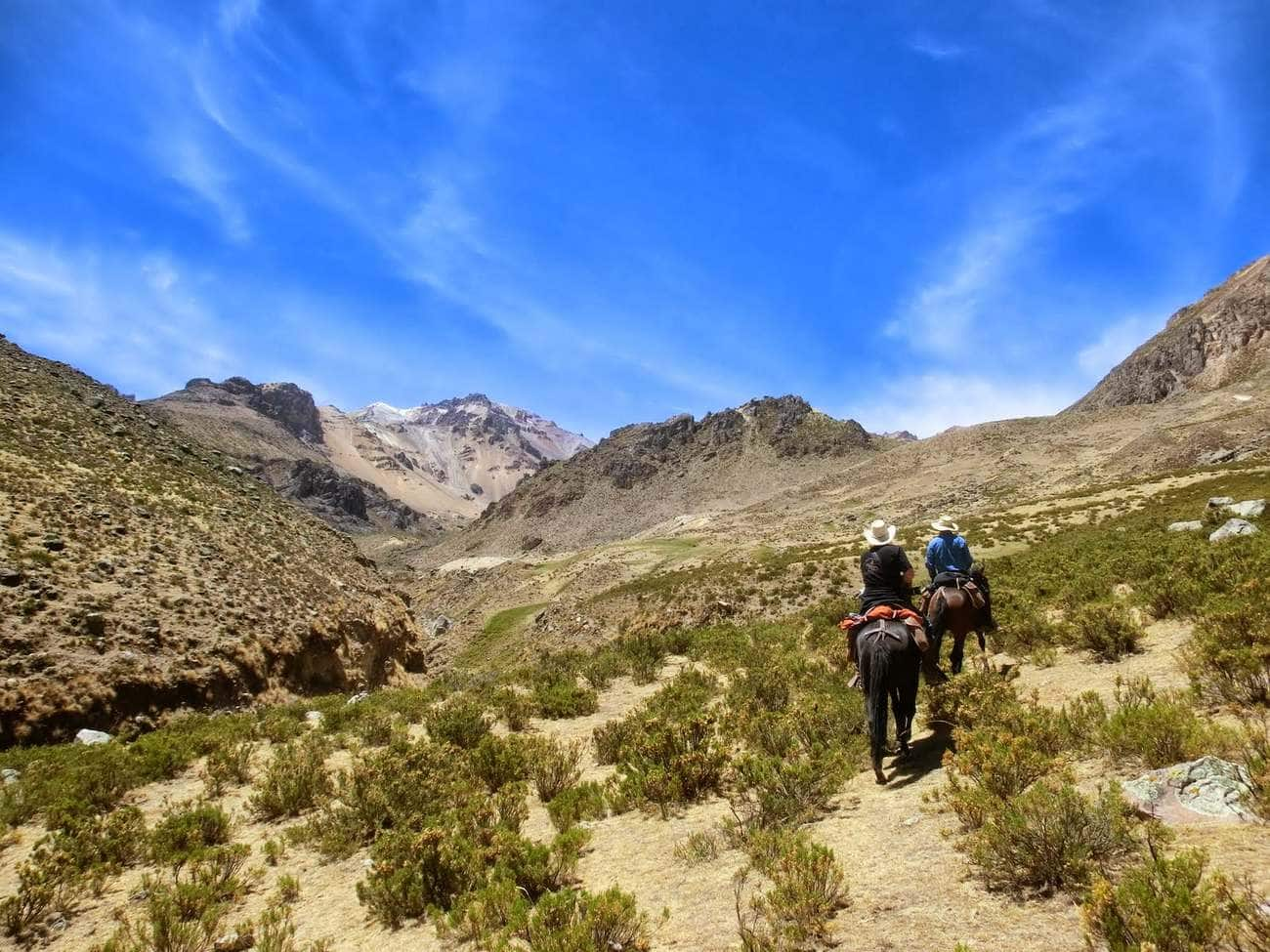 Horseback ride in Colca Canyon close to Arequipa in Peru